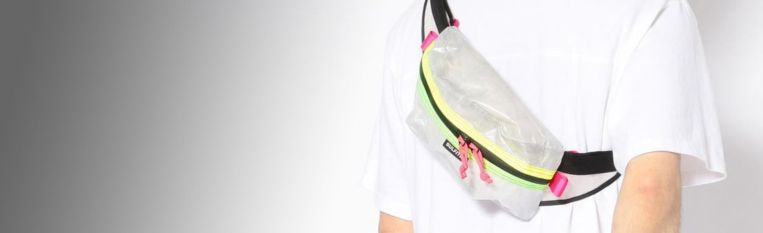White & Fluo Dyneema Fanny pack